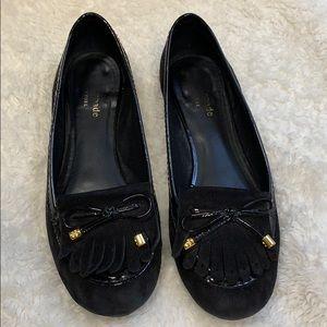 Kate Spade black suede shoes